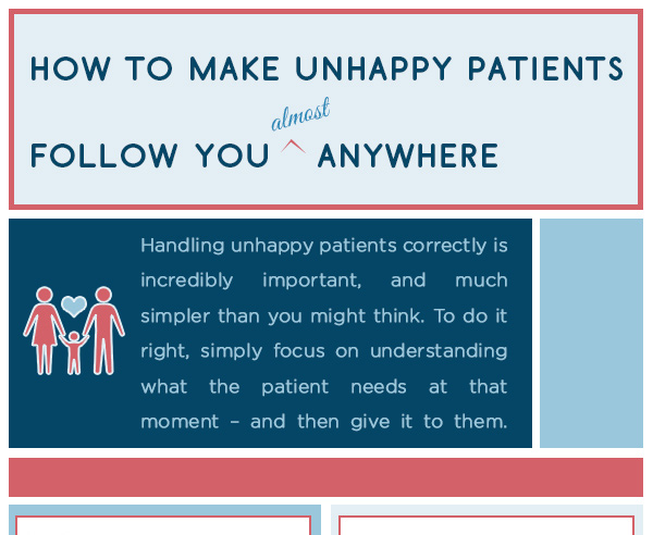 Infographic: How to Make Unhappy Patients Follow You Anywhere