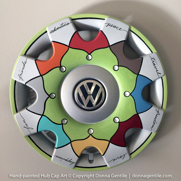 VW Freedom Painted Hubcap