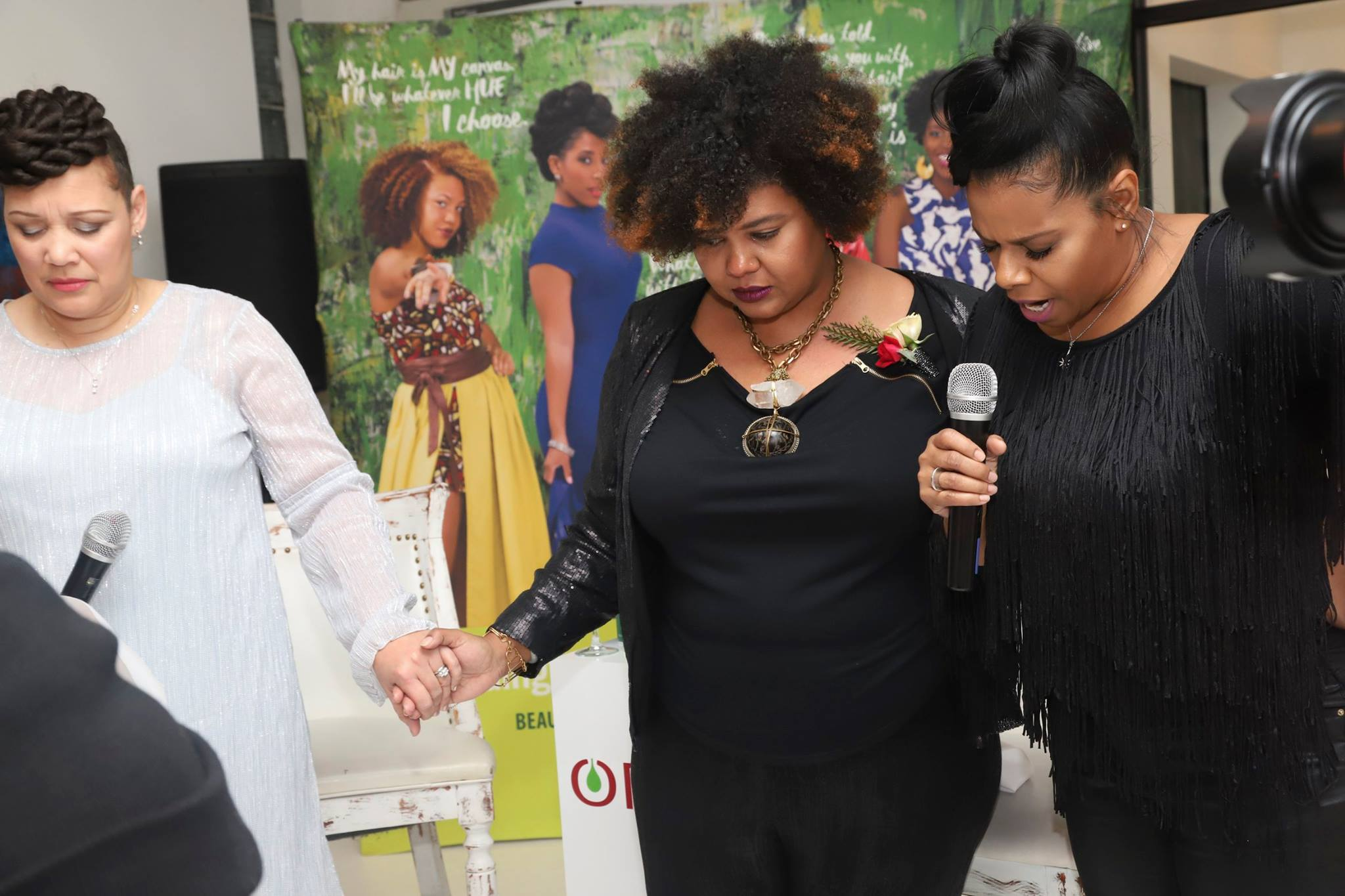 ORS- Afrobella Blogger Anniversary Hold Hands in Prayer