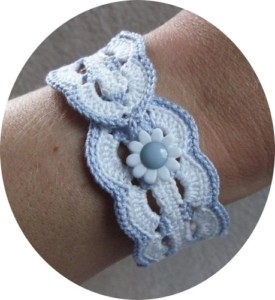 crochet waves bracelet pattern
