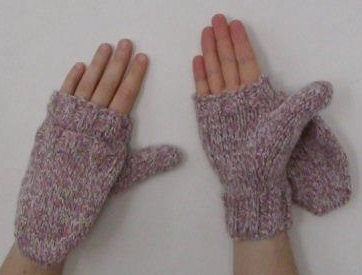 Knitted flip mittens