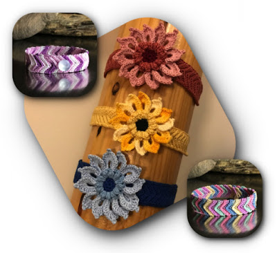 Crochet Jewelry - Flower and Friendship Bracelet