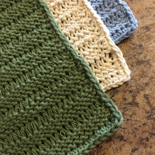 Knitted Lacey Dishcloth Pattern