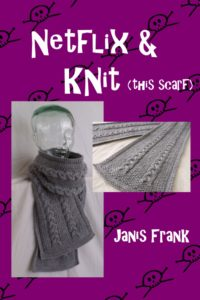 Cable knit scarf knitting pattern