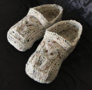 Knitted Owl Slipper Pattern