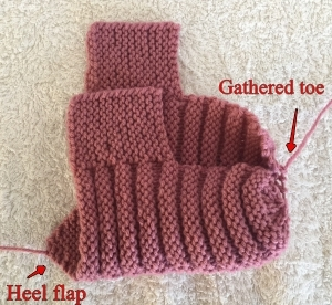 Knitted Ribbed Adult Booties Slipper Pattern
