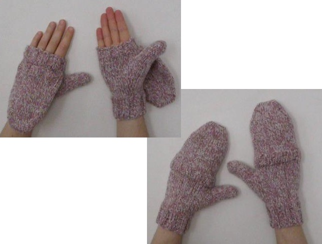 Knitted flip mitts