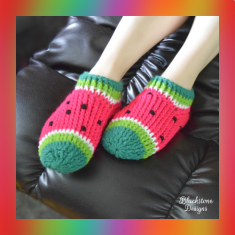 knitting pattern watermelon slippers