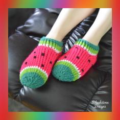 knitting pattern watermelon slippers