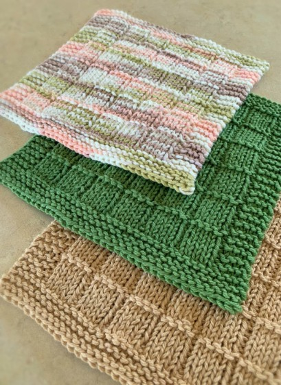 Bars and Stripes Knitted Dishcloth Pattern