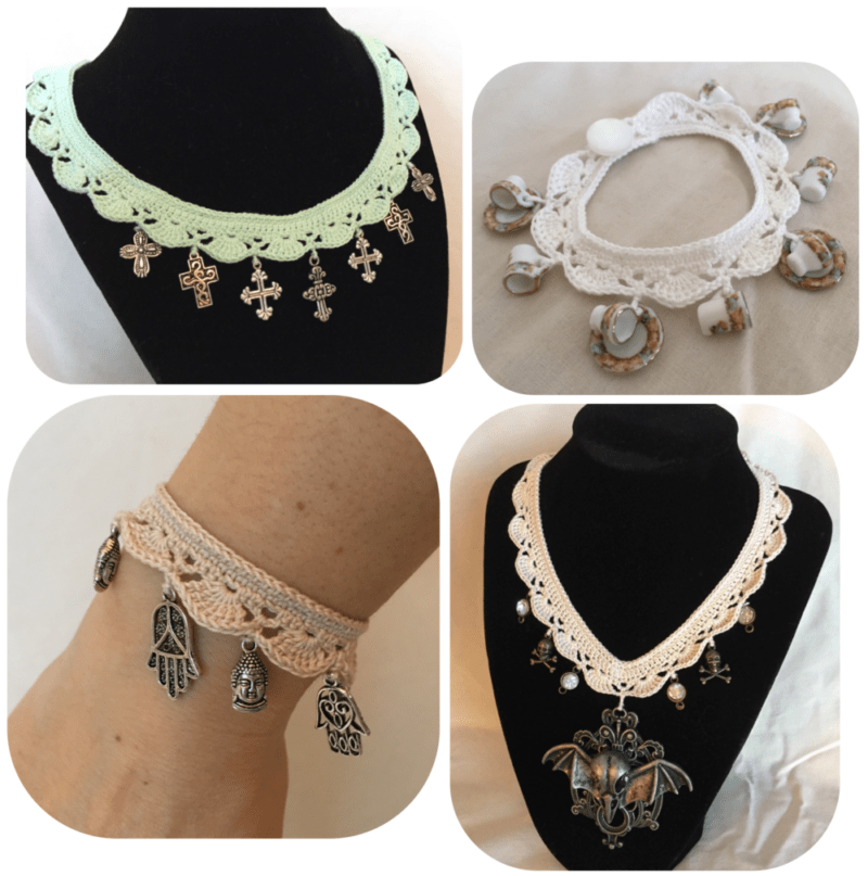 How to crochet jewelry