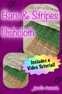Bars and Strips Dishcloth with Video Tutorial