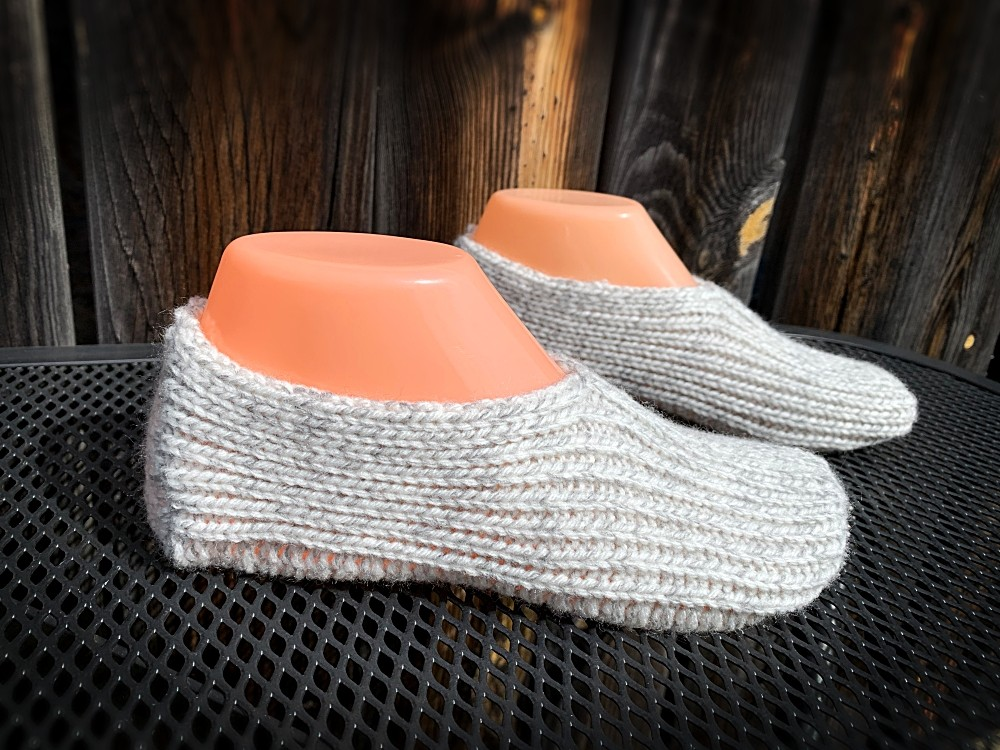 Knitted slippers for sale