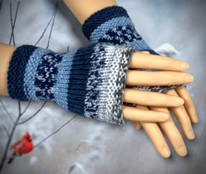 Simple Knit Fingerless Gloves