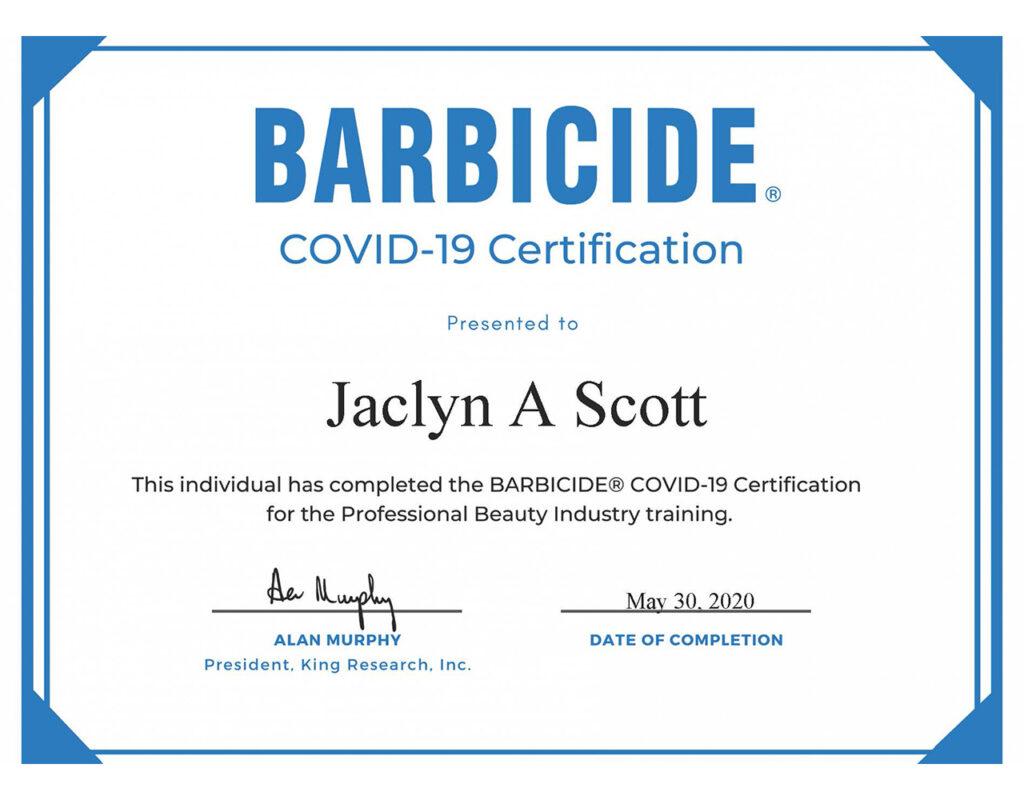 Jaclyn-Barbicide