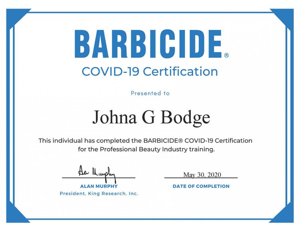 Johna Bodge-Barbicide