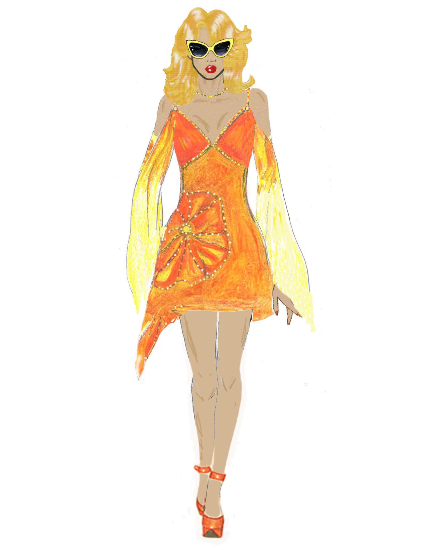 Orange Lily CGB Illustration