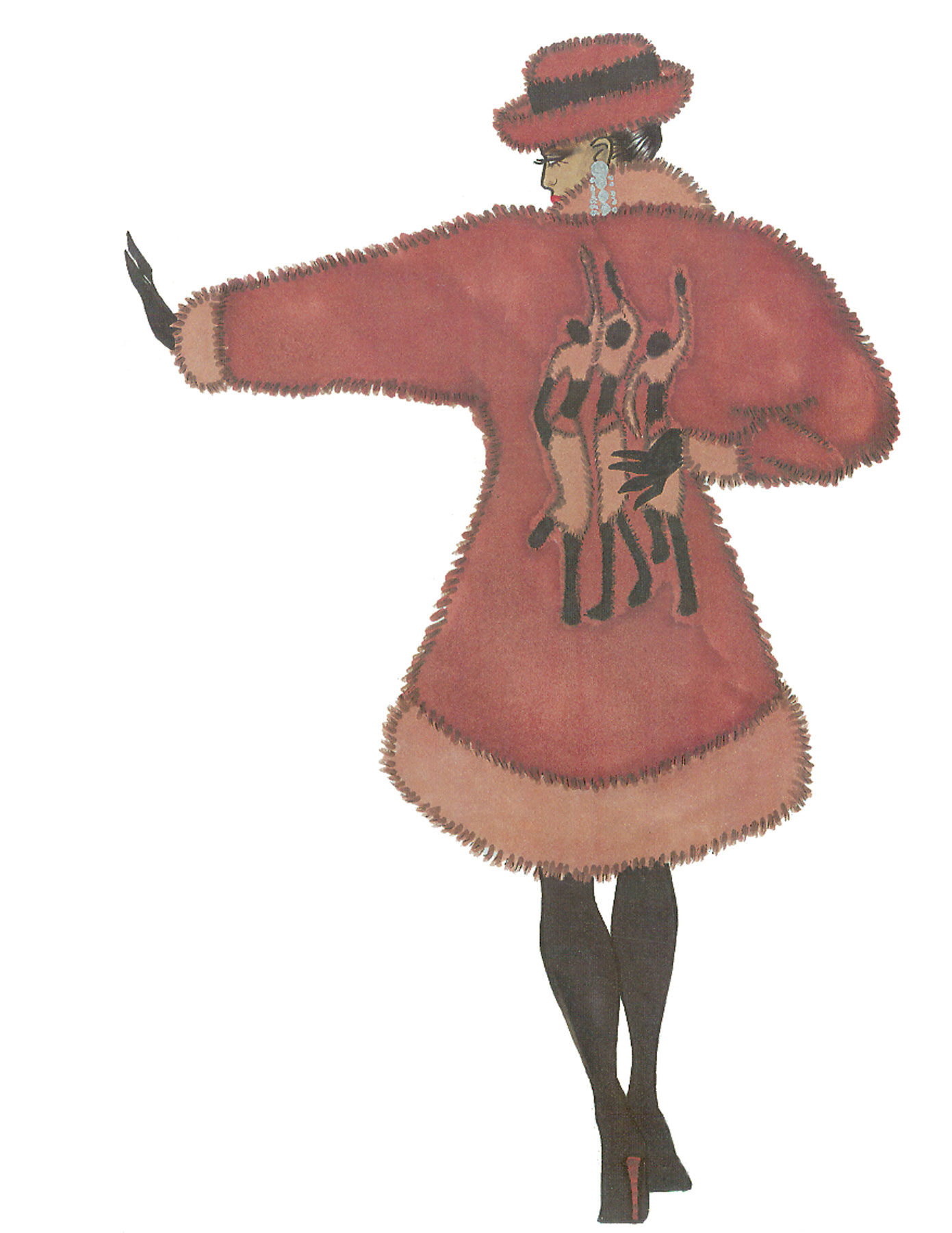 African Intarsia CGB Illustration