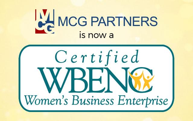 MCG Partners is a certified Women's Business Enterprise