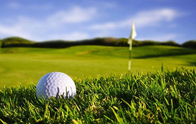 golf ball on golf coarse