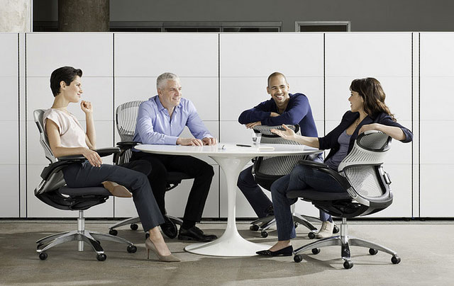 group of people at a meeting