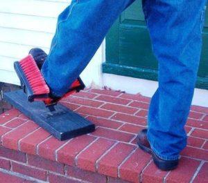 boot on brick