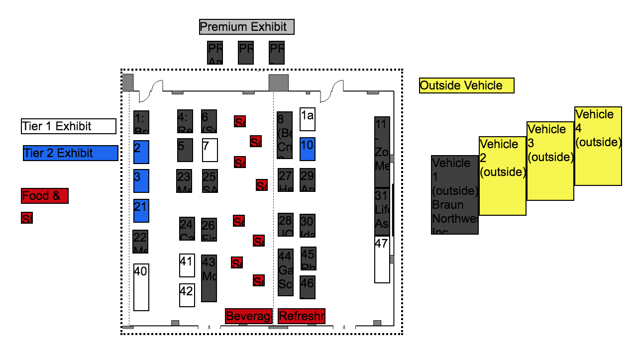 New Frontier Emergency Medicine Symposium 2020 Sponsor Booth Layout