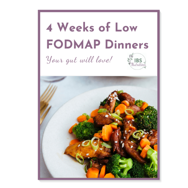 4 weeks of low FODMAP dinner plans