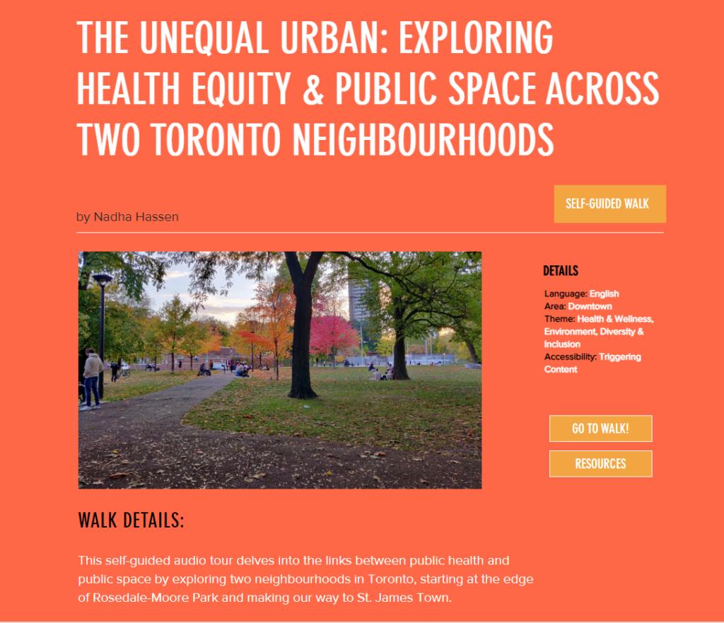 Jane's Walk 2021 - The Unequal Urban