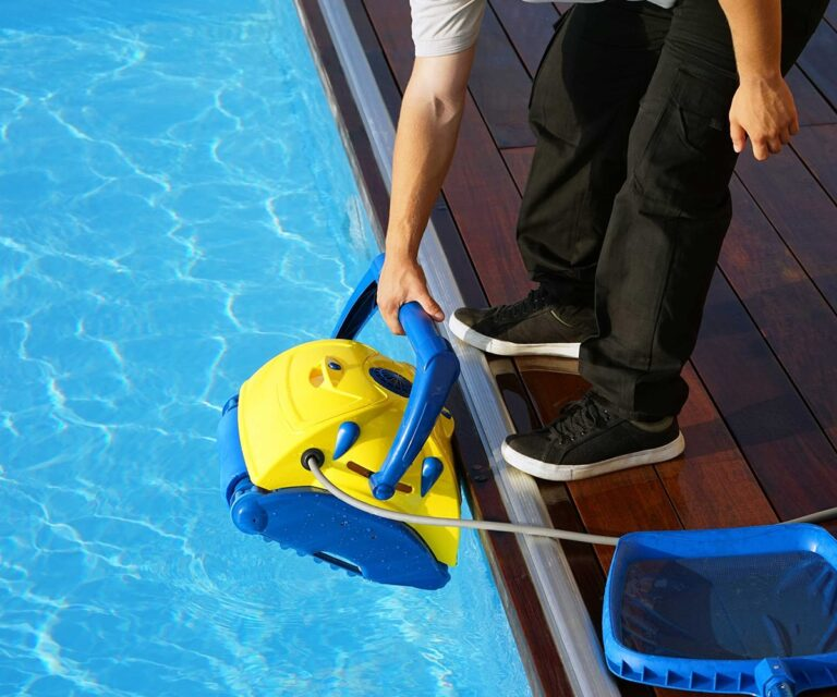 Man Pool Cleaning