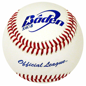 synthetic leather baseball from baden