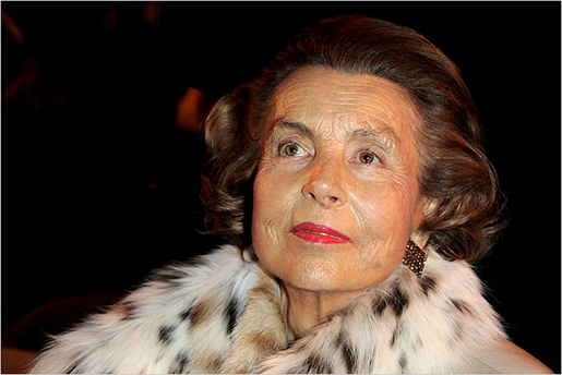 """Madame Bettencourt, Loreal heiress, is said to fulfill a """"despoiled, but colorful"""" life.  That's what I would be!"""