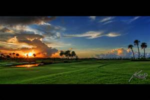 As the sun settles on the golf course, so does the soul.