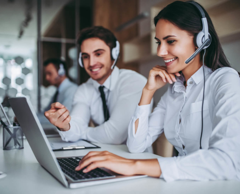 Helpdesk Solutions Call center workers