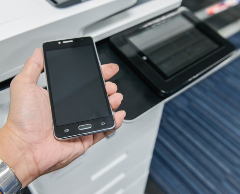 Signup for eInfo eInfo Login Using smart phone with printer to print the document