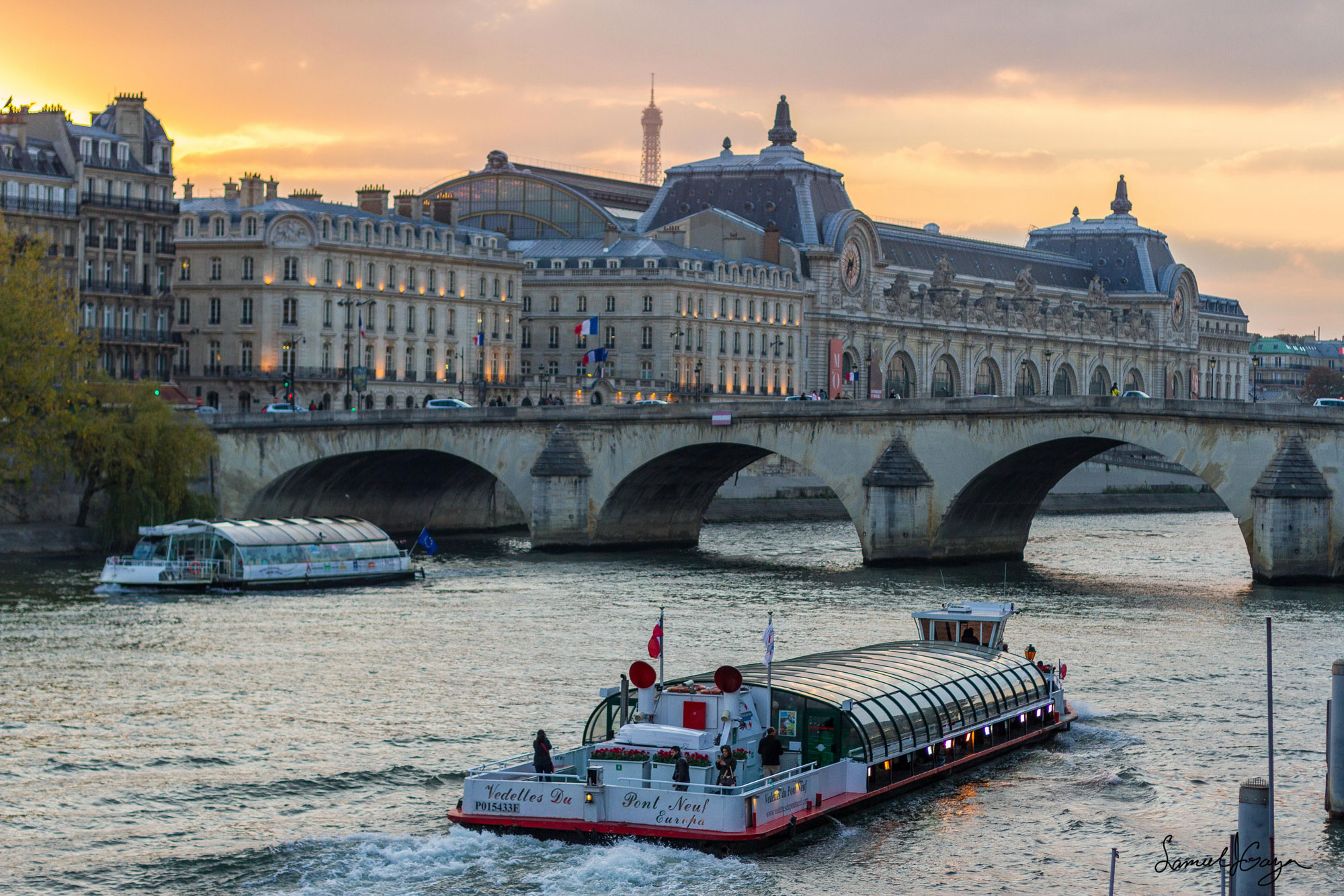 River Siene in Paris, France
