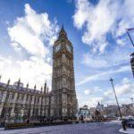 Parliament building in London and Big Ben clock.