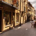 Street in Laguardia, Spain.