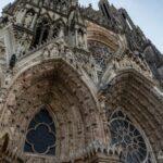 Strasbourg Cathedral front entrance in France.