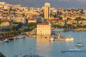 Bay view of Split Croatia