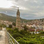 Walkway to the church in Hvar Croatia