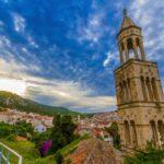 Church tower in Havar Croatia