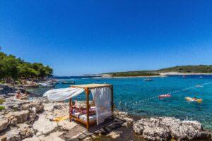 Swim Island in Croatia