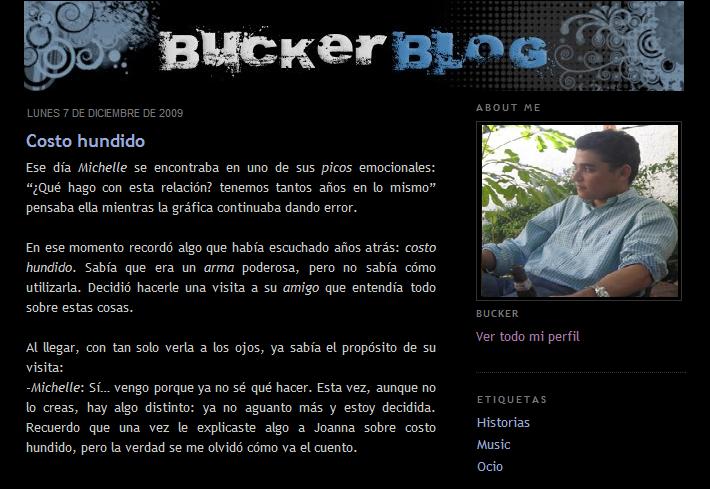 Buckerblog 2009 - blogger