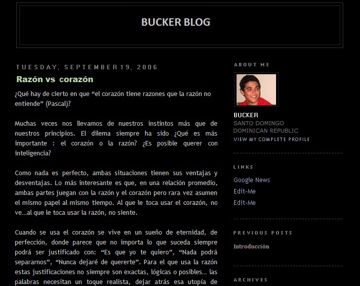 Buckerblog 2006 blogger