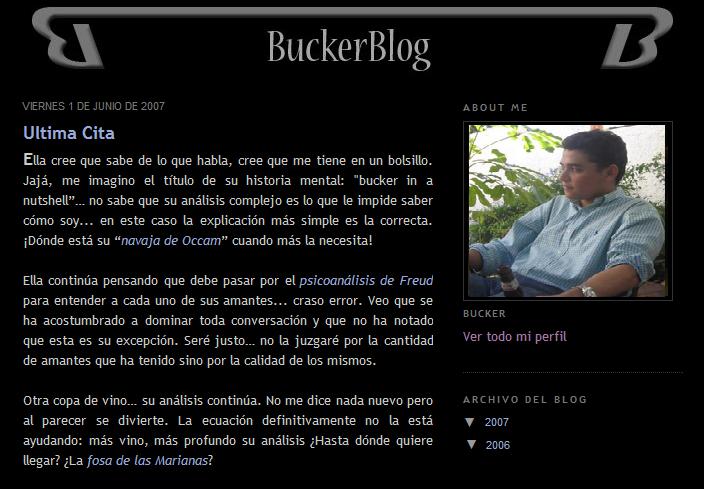 Buckerblog 2008 Blogger
