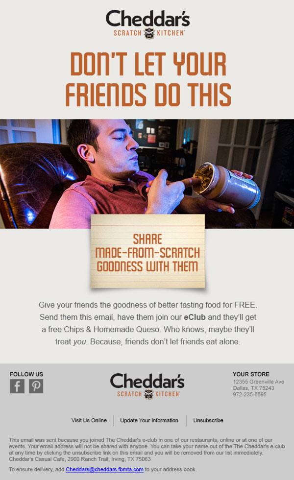 Cheddar's kitchen email