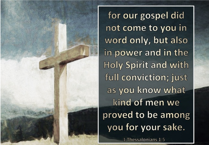 1 Thessalonians 1:5 – Power of the Gospel