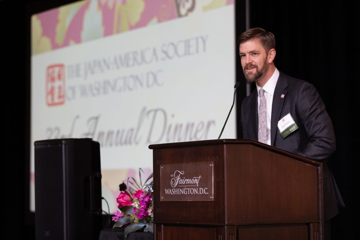 JASWDC President Ryan Shaffer delivers opening remarks