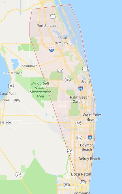 South Florida Area Locations